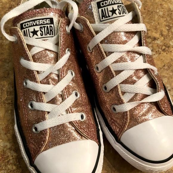 Converse Shoes | Rose Gold Glitter